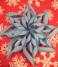 Tutorial - Paper Snowflakes #crafts