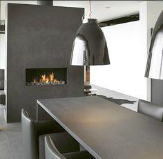 Modus interior, fireplac, moderne keuken