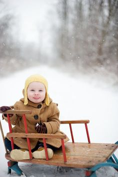 babies photography, babi snow, infant photography, one year photos, winter wonderland