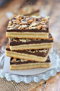You're going to go crazy for these Toffee Cookie Bars!   MomOnTimeout.com
