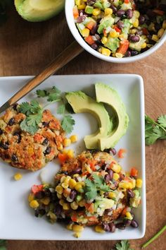 Southwest Veggie Burgers with Black Bean and Corn Salsa
