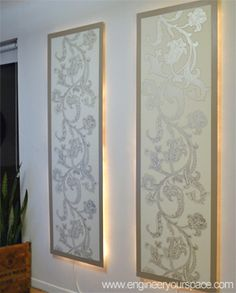 How to make lighted wall panels