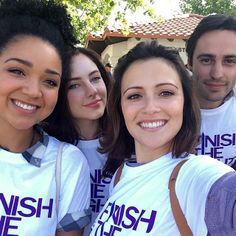 Chasing Life cast at American Cancer Society's Relay for Life
