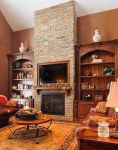 Fireplace Ideas, I like the built ins