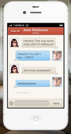 UltraUI | UI Design & Inspiration — iPhone Chat UIby Kevin Anderson (@Kevin Anderson)