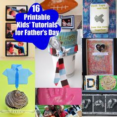 This is an awesome collection of 16 kids' crafts for Father's Day. The directions are in a printable format, so they're easy to follow!