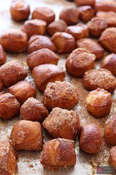 Homemade Cinnamon Sugar Soft Pretzel Bites - Handle the Heat