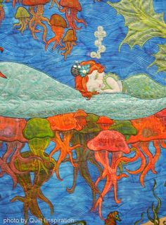 close up, Mermaid Dreams by Shelli Ricci  (Minnesota).  Photo by Quilt Inspiration