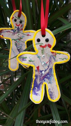The Eyes of a Boy: Paper Bag Gingerbread Man Christmas Ornaments - Fun Kid's Craft