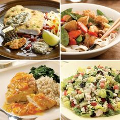 Here is a whole collection of healthy, 500-calorie chicken dinner menus from @EatingWell