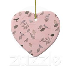 Birds and Leaves Ornament