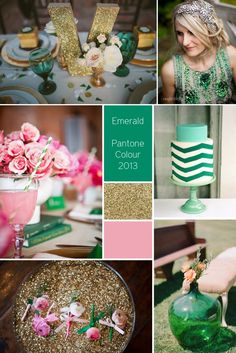 Emerald Wedding Inspiration - Pantone Colour 2013