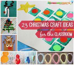 23 Christmas Craft Ideas for the Classroom: DIY Christmas decorations, easy Christmas crafts for kids, and even more fun holiday ideas! | AllFreeKidsCrafts.com