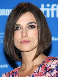 """THE ANGLED BOB    A mono-length bob (think Uma Thurman's character in Pulp Fiction) can be a little severe on square face shapes. Ask your stylist for Keira Knightley's take on the look—an angled cut with long pieces in front that gradually get shorter toward the back. """"They elongate rather than widen the face,"""" says Teddi Cranford, hairstylist at Sally Hershberger Downtown Salon in New York City."""