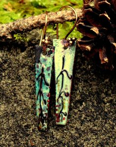 Tribal Earrings Asymmetrical by EarthNBling, $19.00