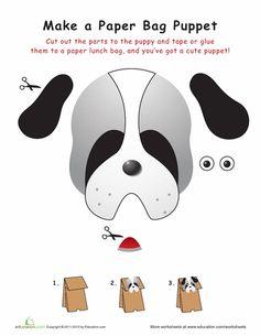 Puppy Paper Bag Puppet