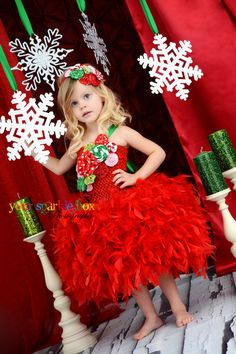 Her tutu's are awesome!  Fabulous feather skirt tutu dress.