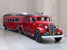 1938 Chevrolet HC 1-ton truck and custom-built Curtiss Aerocar trailer.