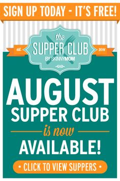 Tired of planning meals and stressing over diner every night? Let Skinny Mom take care of the healthy meals for you and sign up for our supper club TODAY.