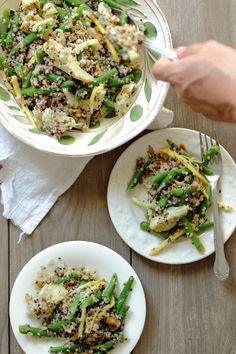 Quinoa Salad with Green Beans and Artichokes | Foodness Gracious