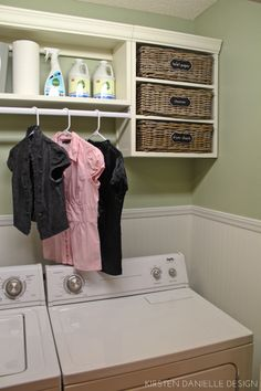 laundry closet with lots of storage & hanging space