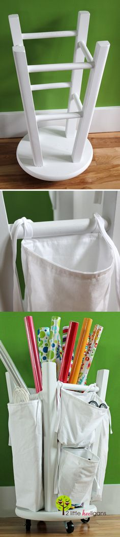 Wrapping Paper Bin