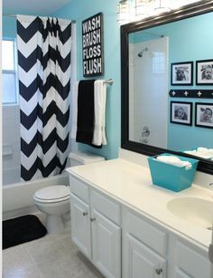 Love this for kids bathroom. Love the color on the walls but do gray instead of black so I can use my towels