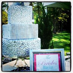 Blinged out cake!