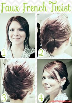 How fab is this faux French twist tutorial for SHORT hair? Get the look with these easy steps...