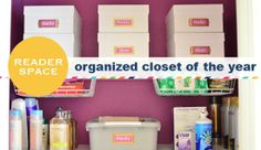 Reader Space: Organized Closet of the Year! - IHeart Organizing