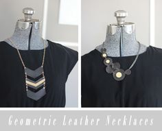 joyofallcrafts - home - DIY // Leather Geometric Necklaces