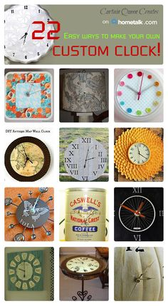 Awesome custom clocks for your home!