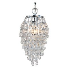 Teardrop Mini Chandelier- this would be so cute in the dressing room!