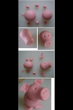 how to make a pig out of clay