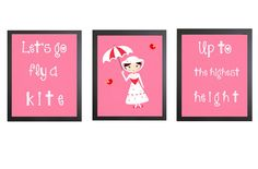 Mary Poppins Art Print - perfect for home design within a nursery or kid's room.