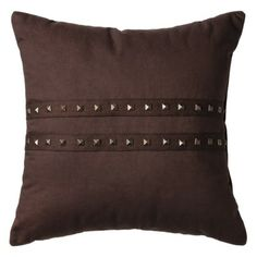 "Nate Berkus for Target® Decorative Studded Pillow 16"" - Brown $24.99"
