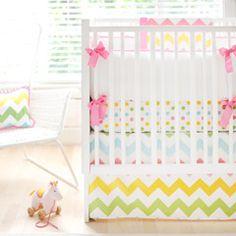 New Arrivals Crib Bedding Zig Zag Rainbow NA3654