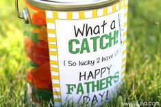Father's Day What a Catch Pail + free printable