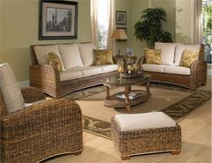 coffee tables, furnitur set, seagrass furnitur, chairs, wicker furniture, kitt set, wicker paradis, wood frames, sunroom