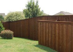 New board on board fence around entire back yard.....
