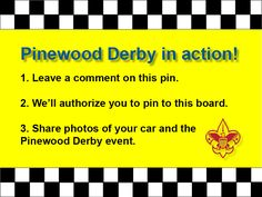 Do you have pictures from race day or of your Pinewood Derby car? If so, share them here!