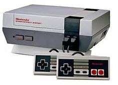 Nintendo NES... we though we were the coolest kids on the block when we got ours!