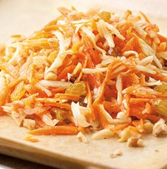 Instead of a heavy mayonnaise-based dressing, this Carrot Salad with Walnuts and Honey-Lemon Dressing is dressed light and refreshing vinaigrette.