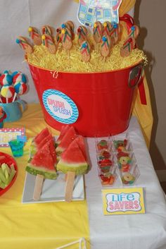 Pool Party Ideas, Décor, Food & Themes with 30+ Pics for 2014 -  Pool Party Food Menu Ideas – Fruits & Else