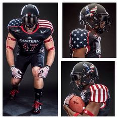 Check out the Military Appreciation uniforms that Eastern Washington University will be wearing this weekend!  Healy Awards was fortunate enough to provide the Stars & Stripes decals for the football helmets.    #FootballHelmetDecals #FootballDecals #CustomHelmetDecals #HelmetDecals #MilitaryAppreciation #America #UniSwag #HelmetSwag #HealyAwards
