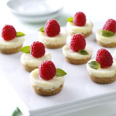Berry Mini Cheesecakes Recipe from Taste of Home :: http://pinterest.com/taste_of_home/