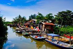 A fishing village at...