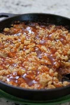 Salted Caramel Apple Crumble