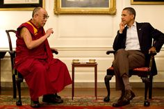President Obama meet with the Dalai Lama.