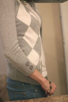 Sweater to Cardigan Refashion--This Mabey Heaven